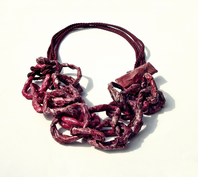 burgundy chain - necklace - chains collection