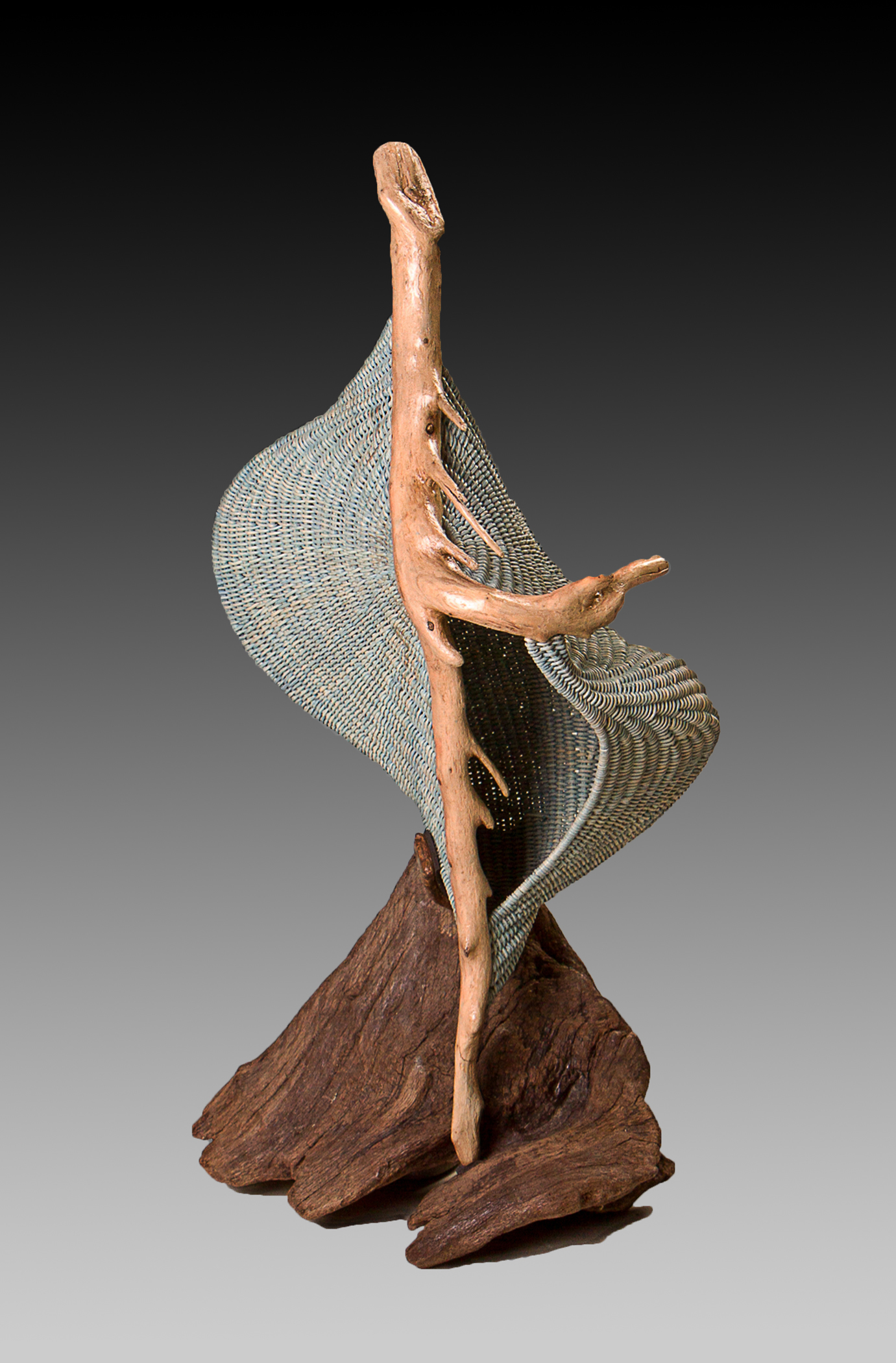 Tidal Arabesque woven sculpture by Deborah Smith