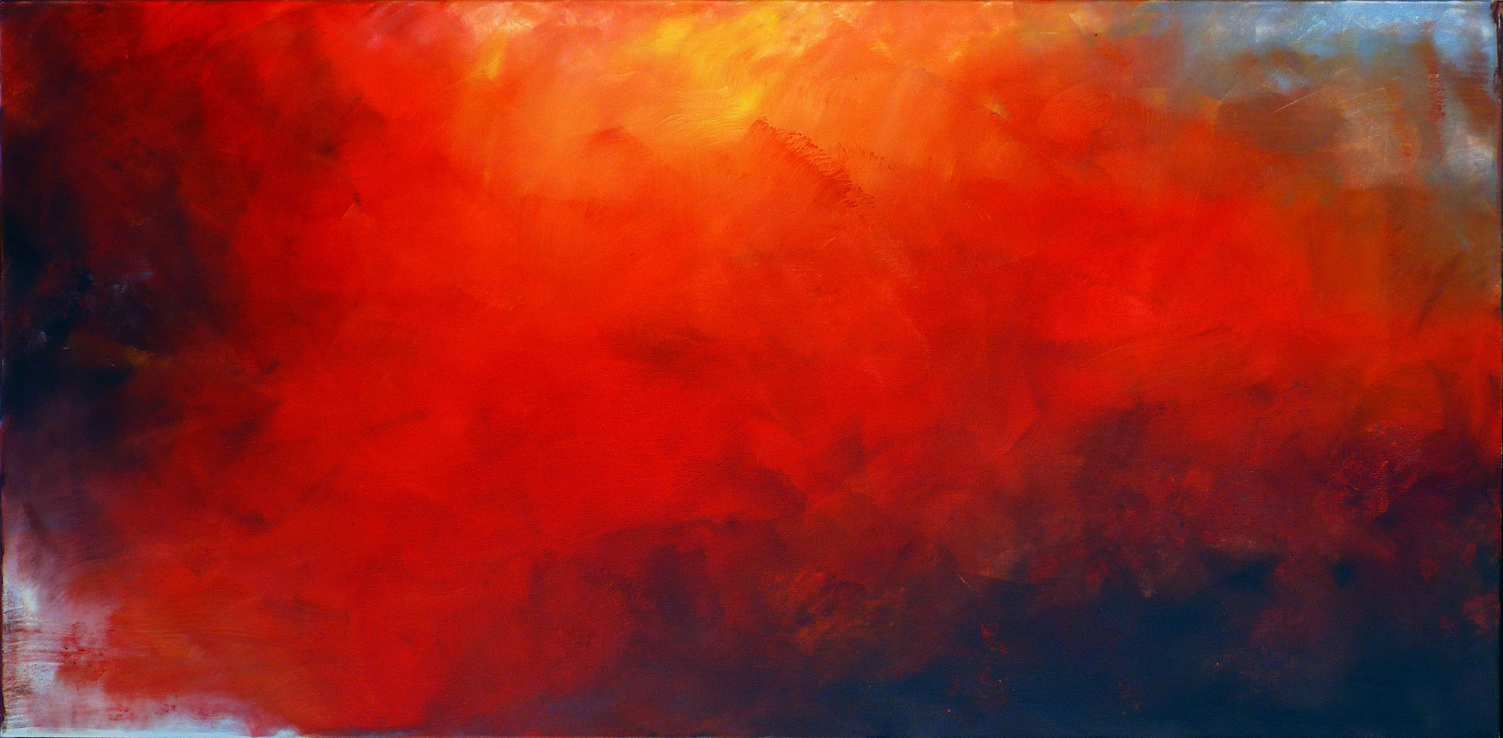 3. Ewa Mitera untitled red 2014 oil on canvas 100cmx200cm-kopia