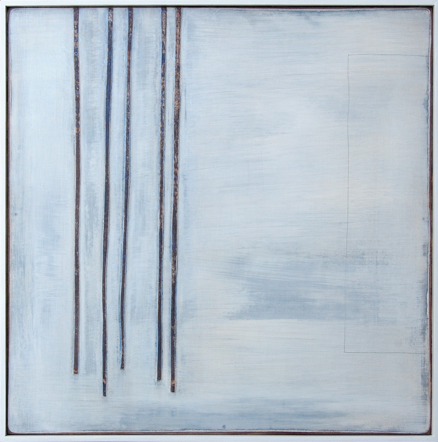 Stillness,30x30cms gesso , card and pencil on board