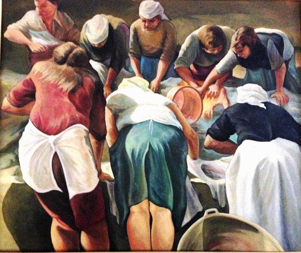 10 The laundresses -oil on canvas 100x120