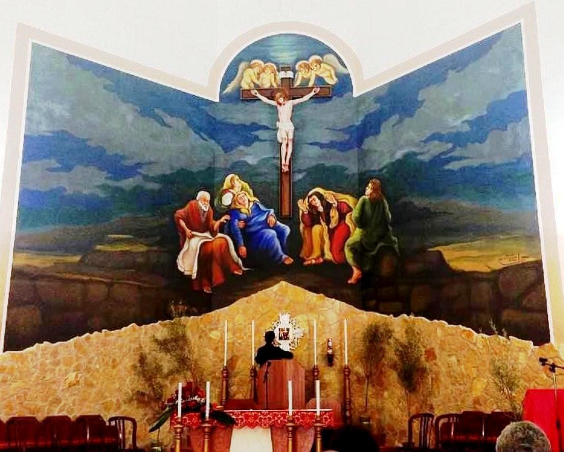 12 S.Andrea's Church -varnish-acrylic on wall 500X700