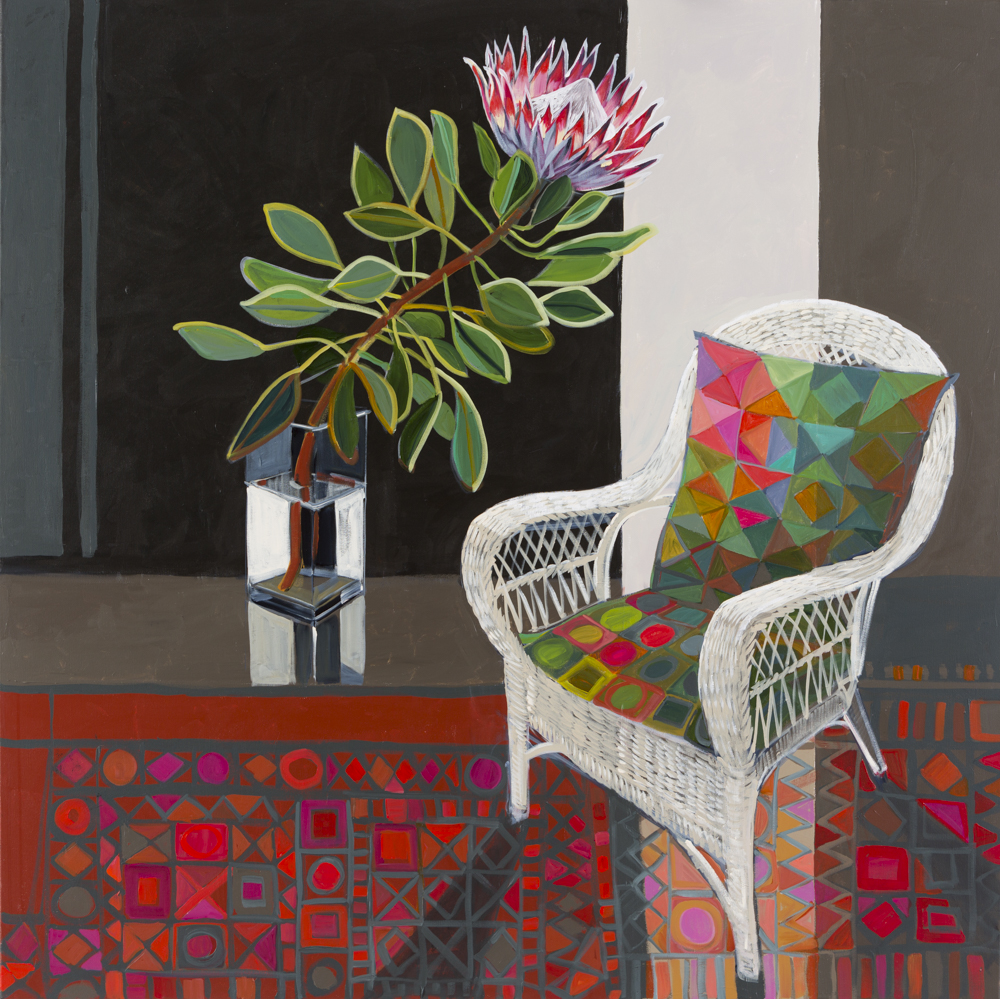 CHRISTINE WEBB Summer Bloom, 137x137 cm e