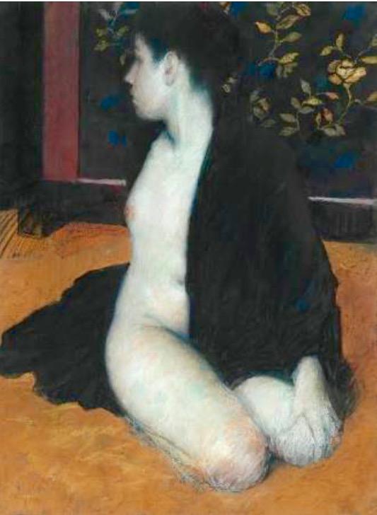 Half Draed Nude in Black