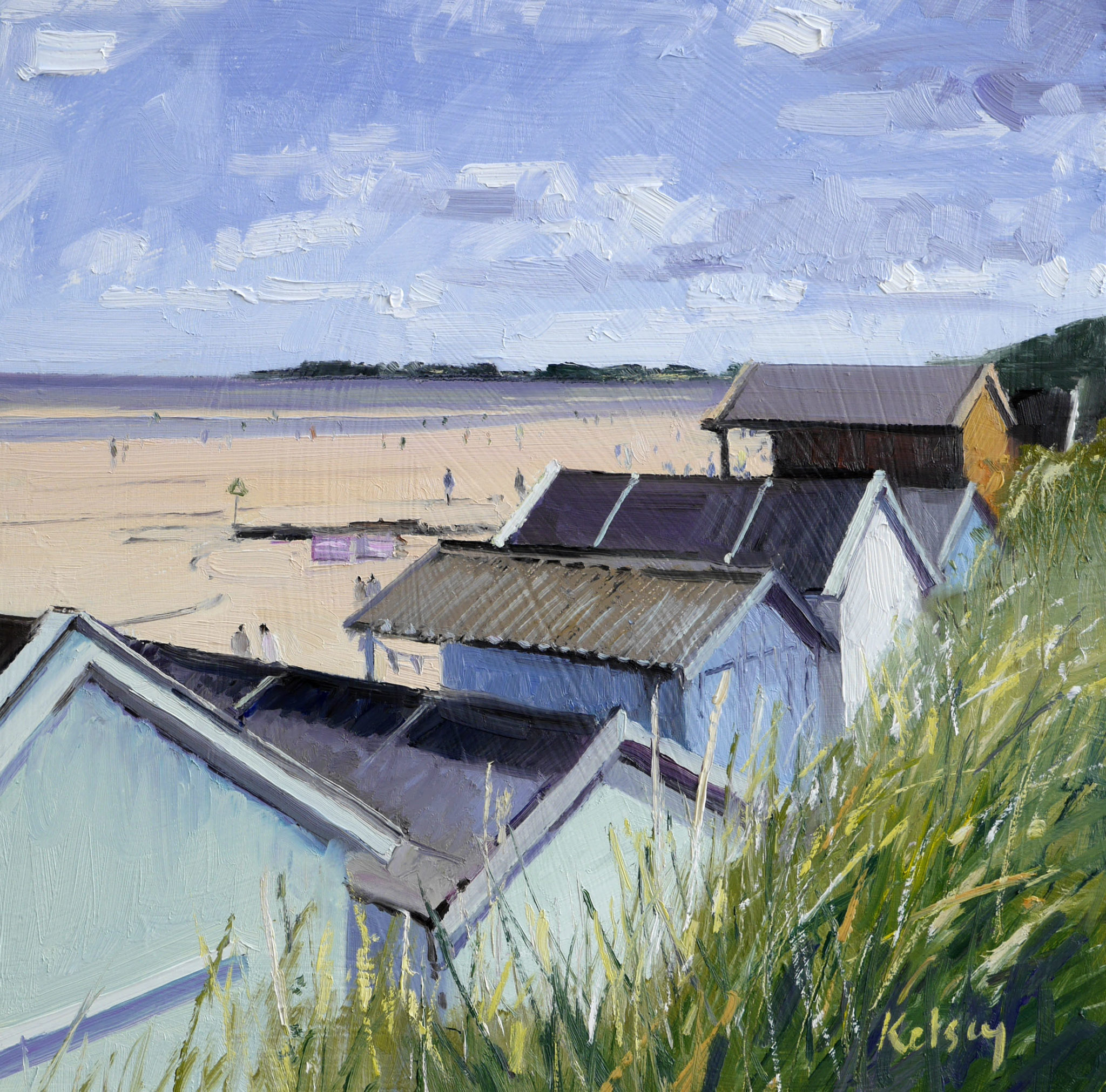 Beach Huts at Wells , Summer