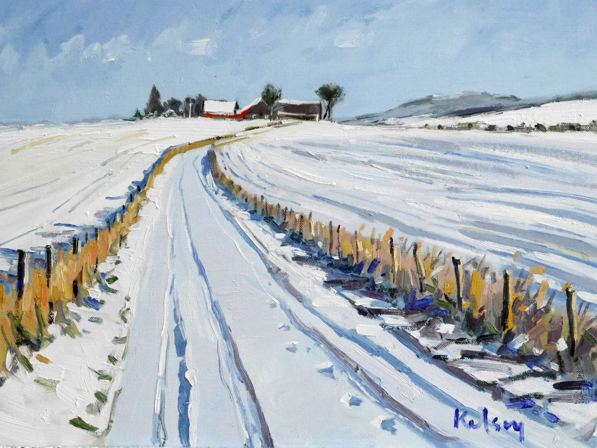 Farm Lane, Winter,