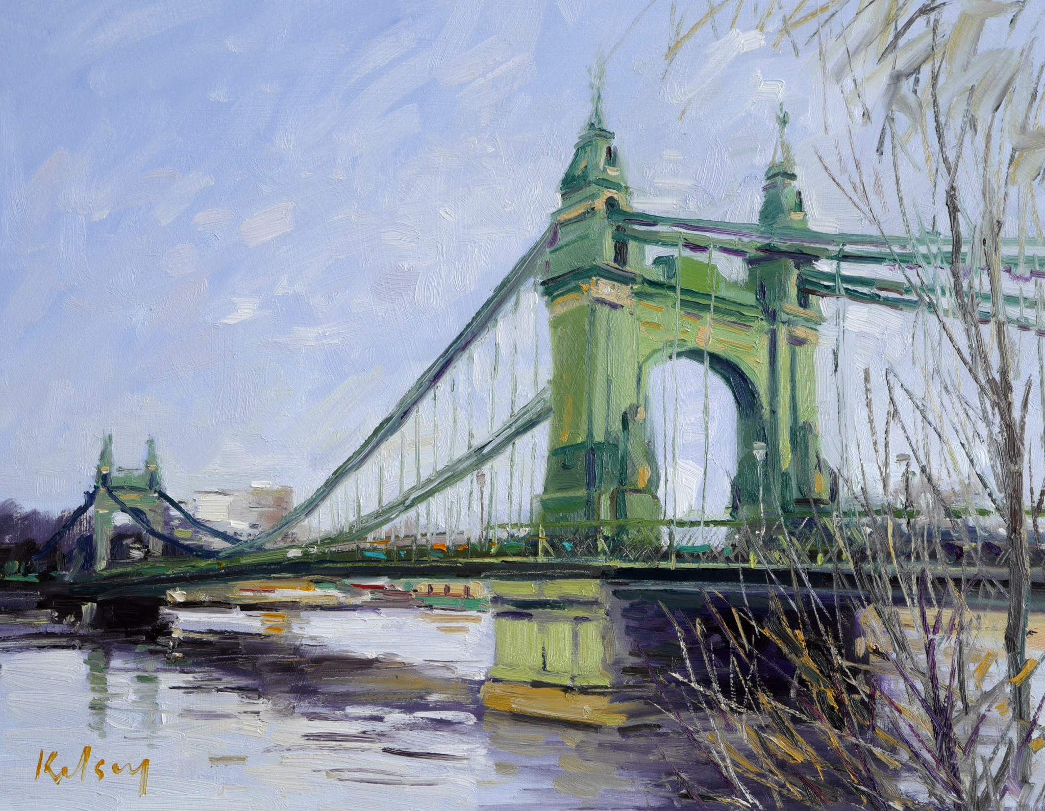 Hammersmith Bridge, Spring