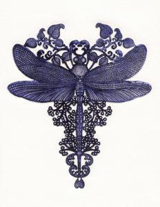 N°17 Etchings- Dragonfly