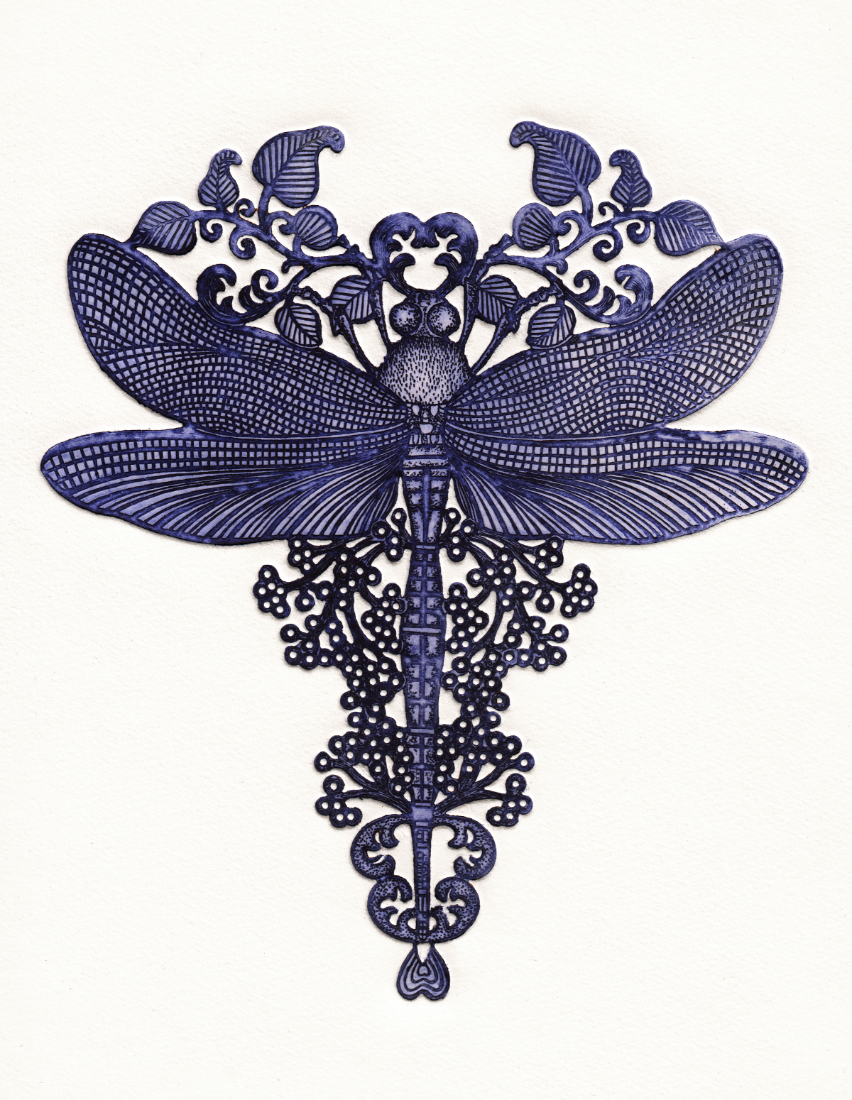 N°17 Etchings- Dragonfly