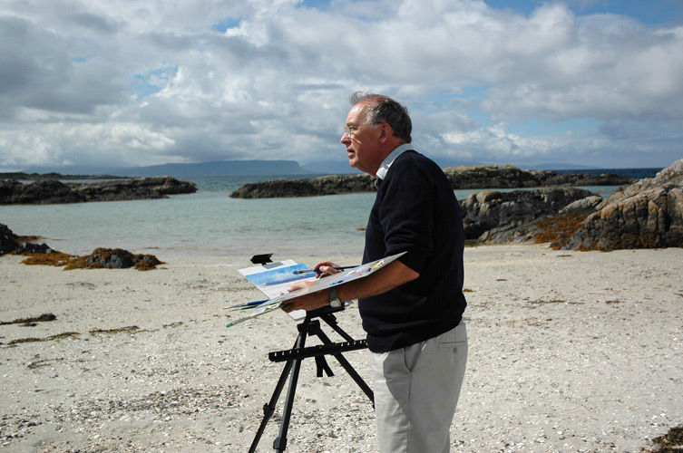 Painting at Arisaig