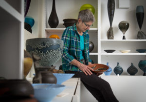 Mary Fox in her Gallery