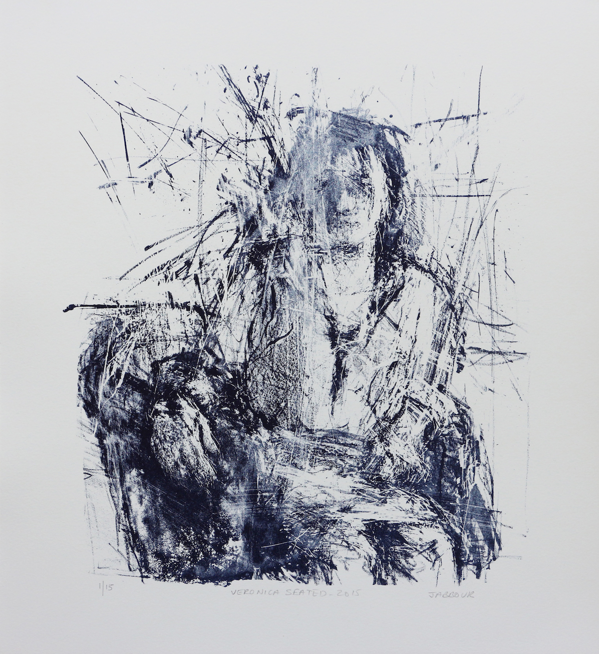 Litho - Veronica Seated
