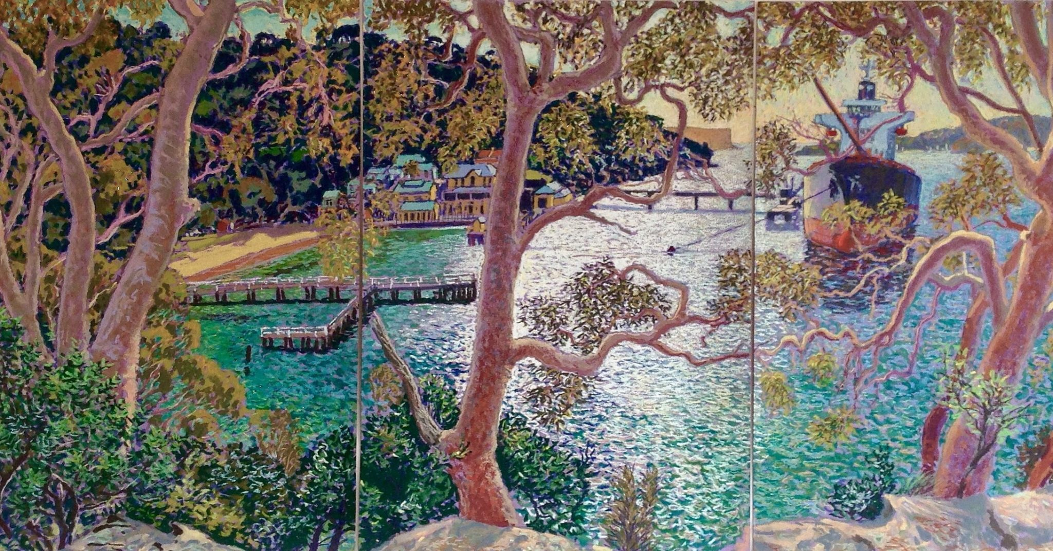 Chowder Bay through the Angophoras 59cm x 126cm