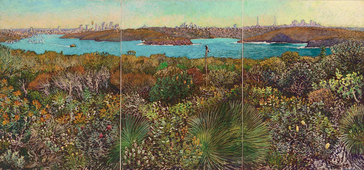 Harbour View over a Thousand Flowers 59cm x 126cm