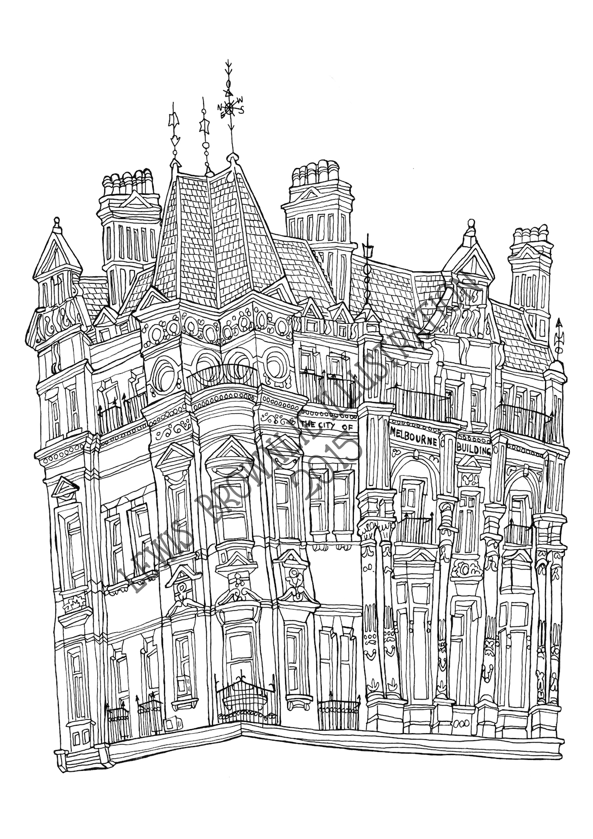 COLOURING BOOK - 11 -CITY OF MELBOURNE BUILDING - blog