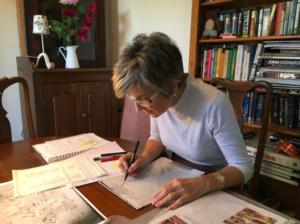 Deborah illustrating new map inclusions
