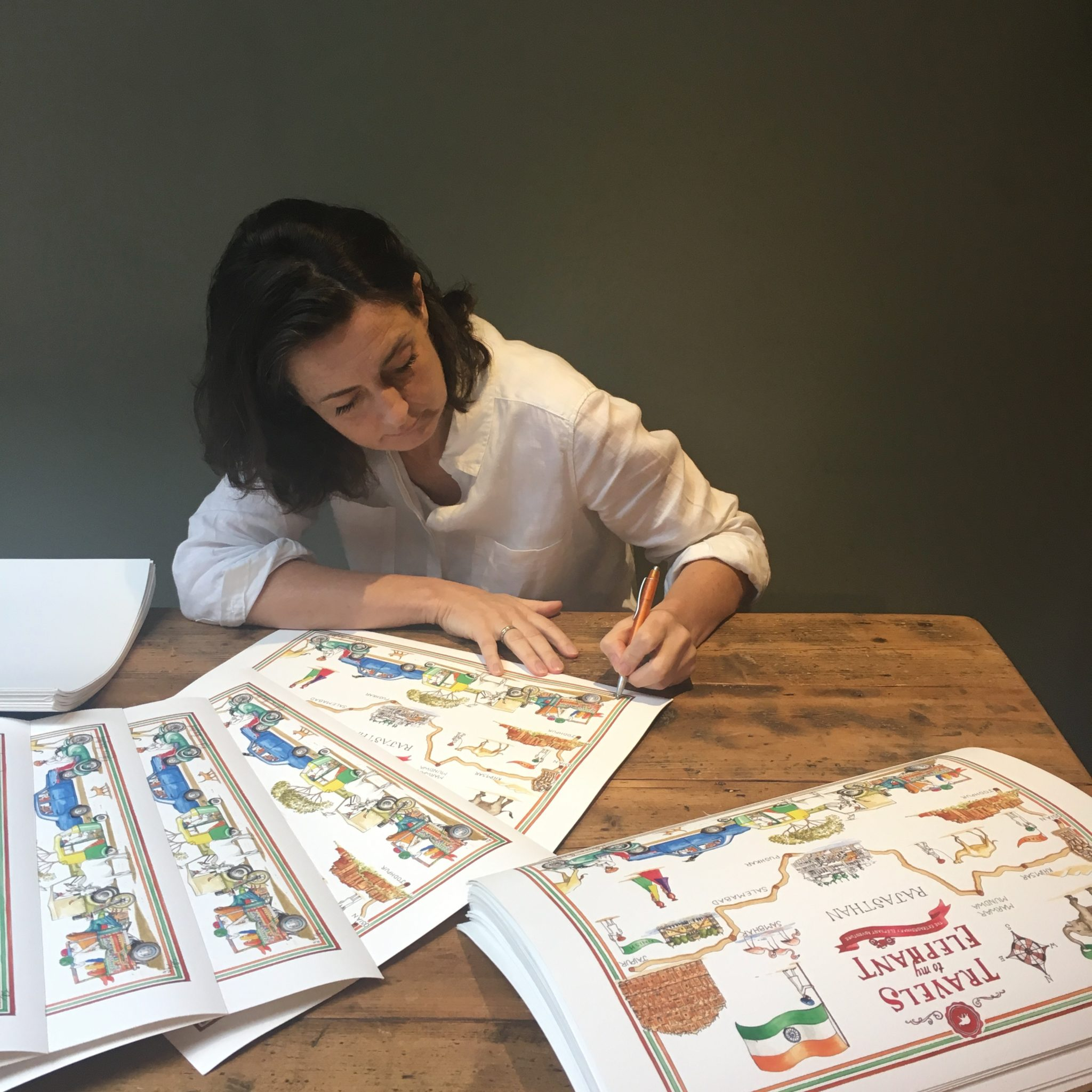 Rebecca Campbell signing prints