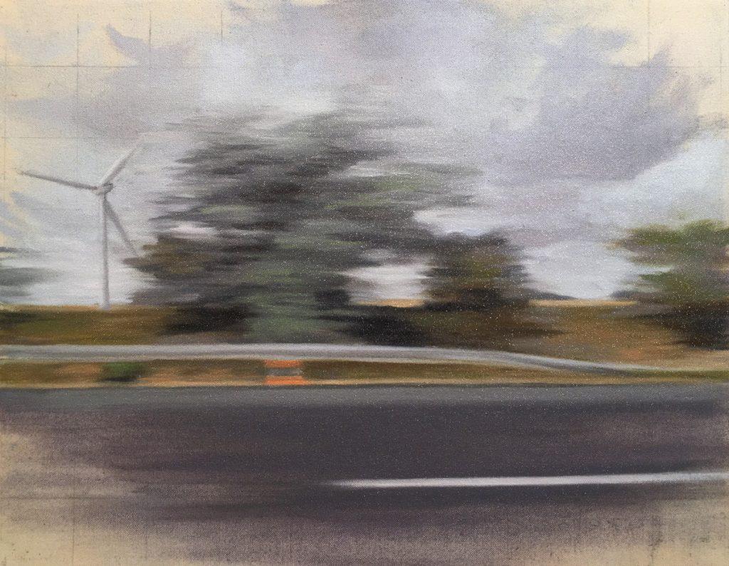 J.Krause_Chapeau_Eolienne II_oil on canvas_2017_14x18_1,200