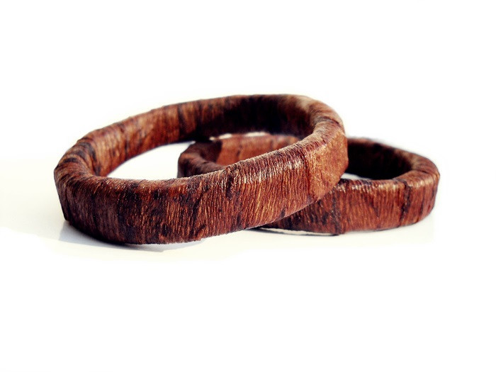round brown - bangles - geometric collection