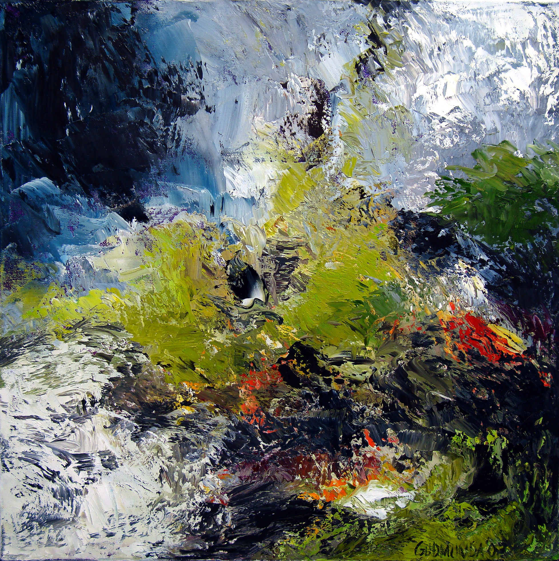Moss, 50 x 50, oil on canvas