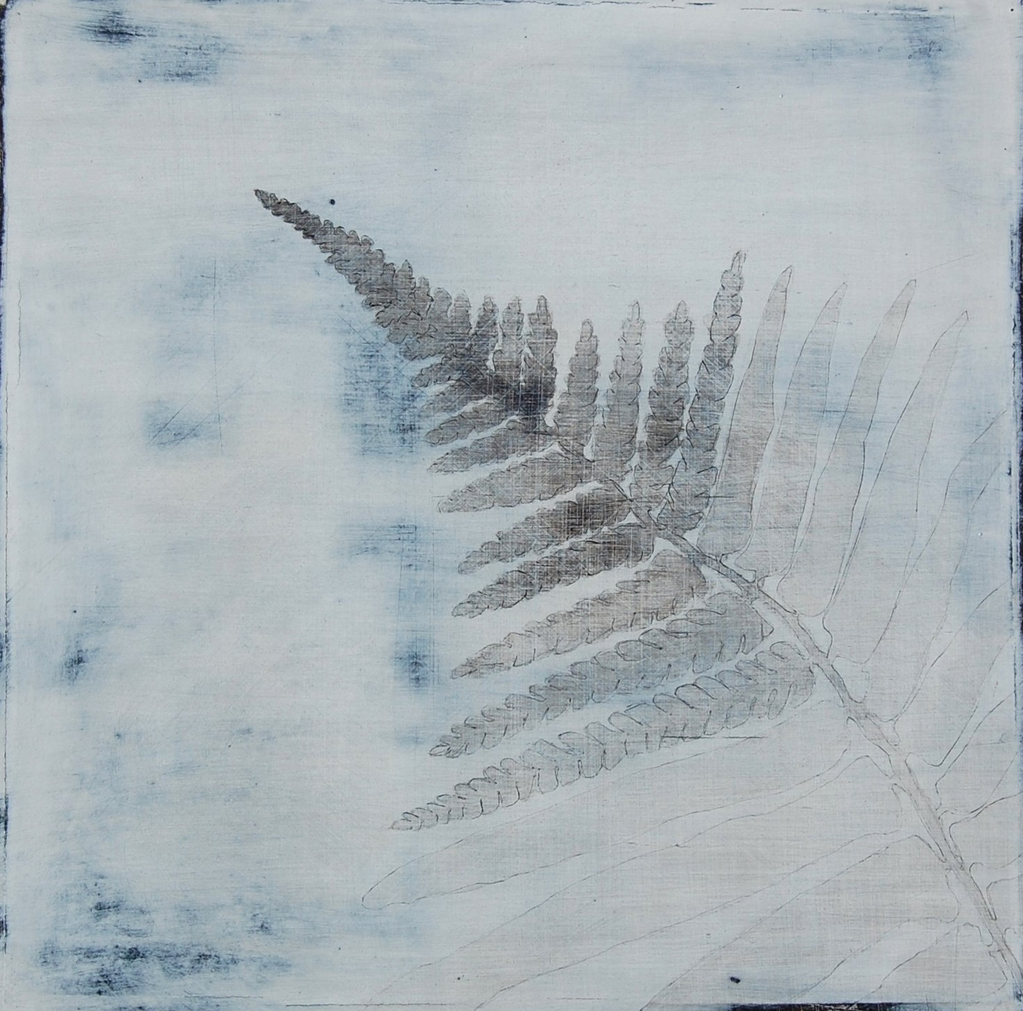 Winter Journey 1V 20 x 20 cm Pencil, acrylic & gesso on board