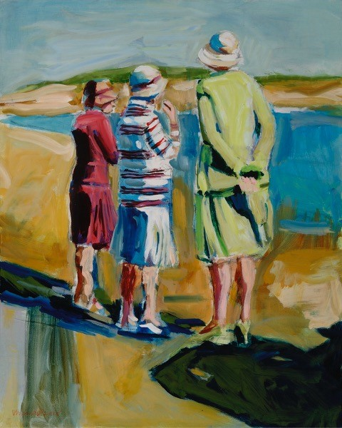Untiltled (3 women) oil on canvas 24 x 30