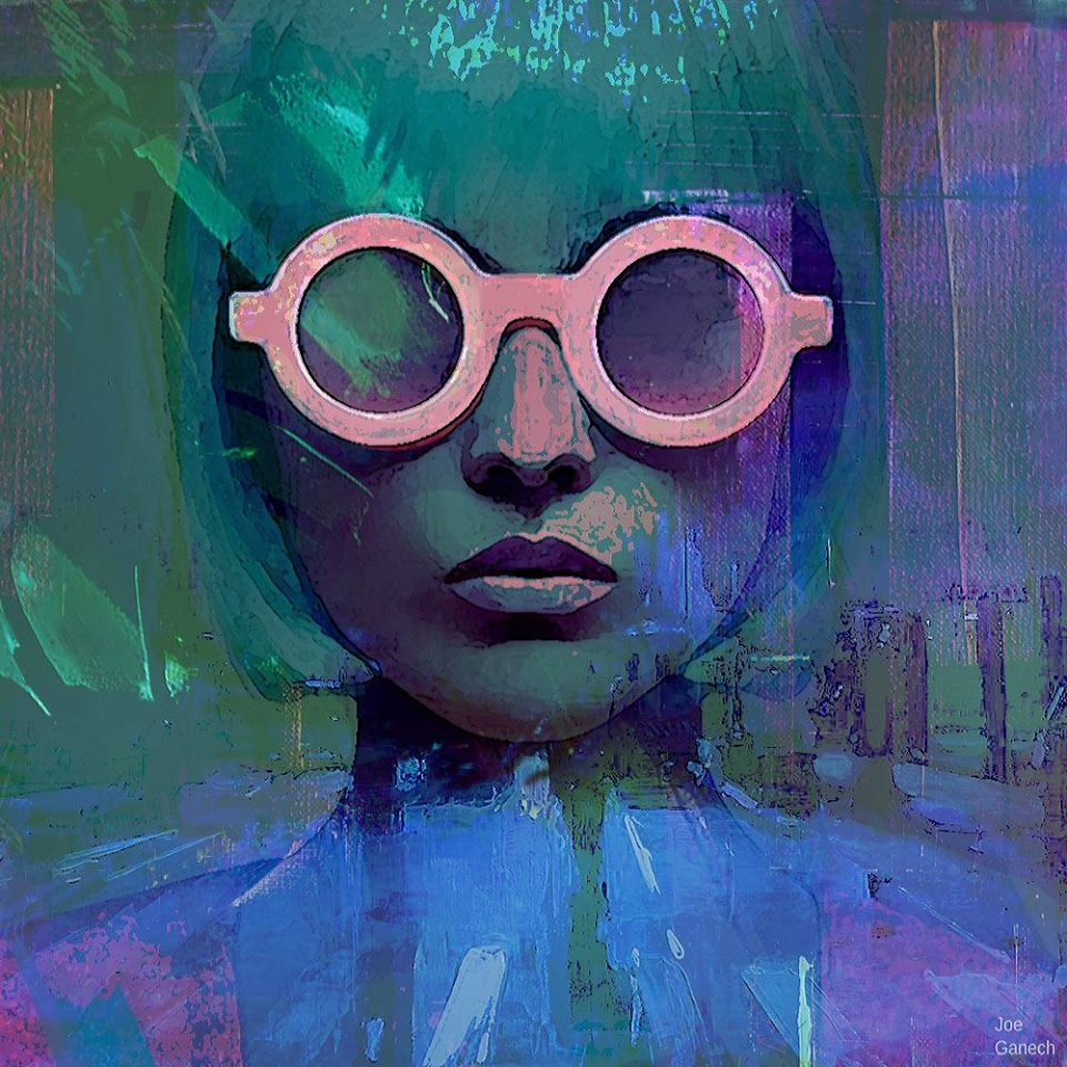 Girl with the pink glasses