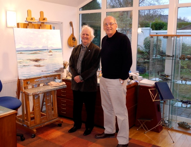 Ken Howard RA visiting Robert's studio