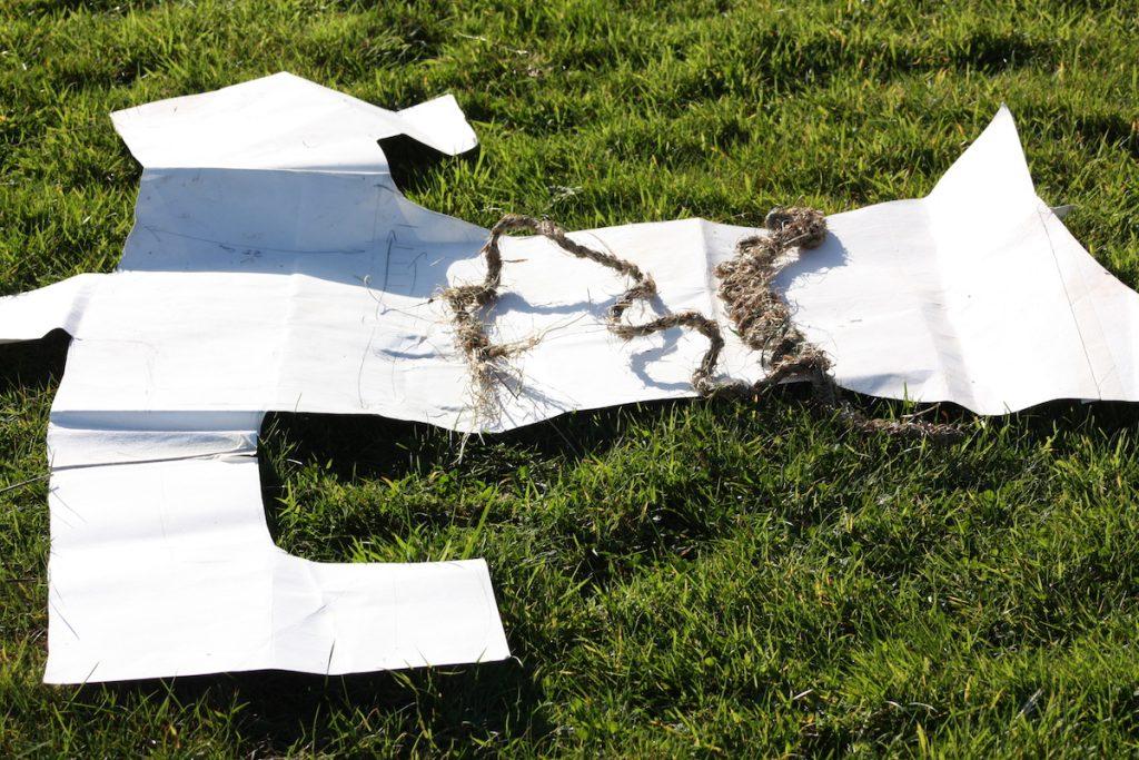 016 Joanne B Kaar making replica Angus MacPhee garment Oct 2011