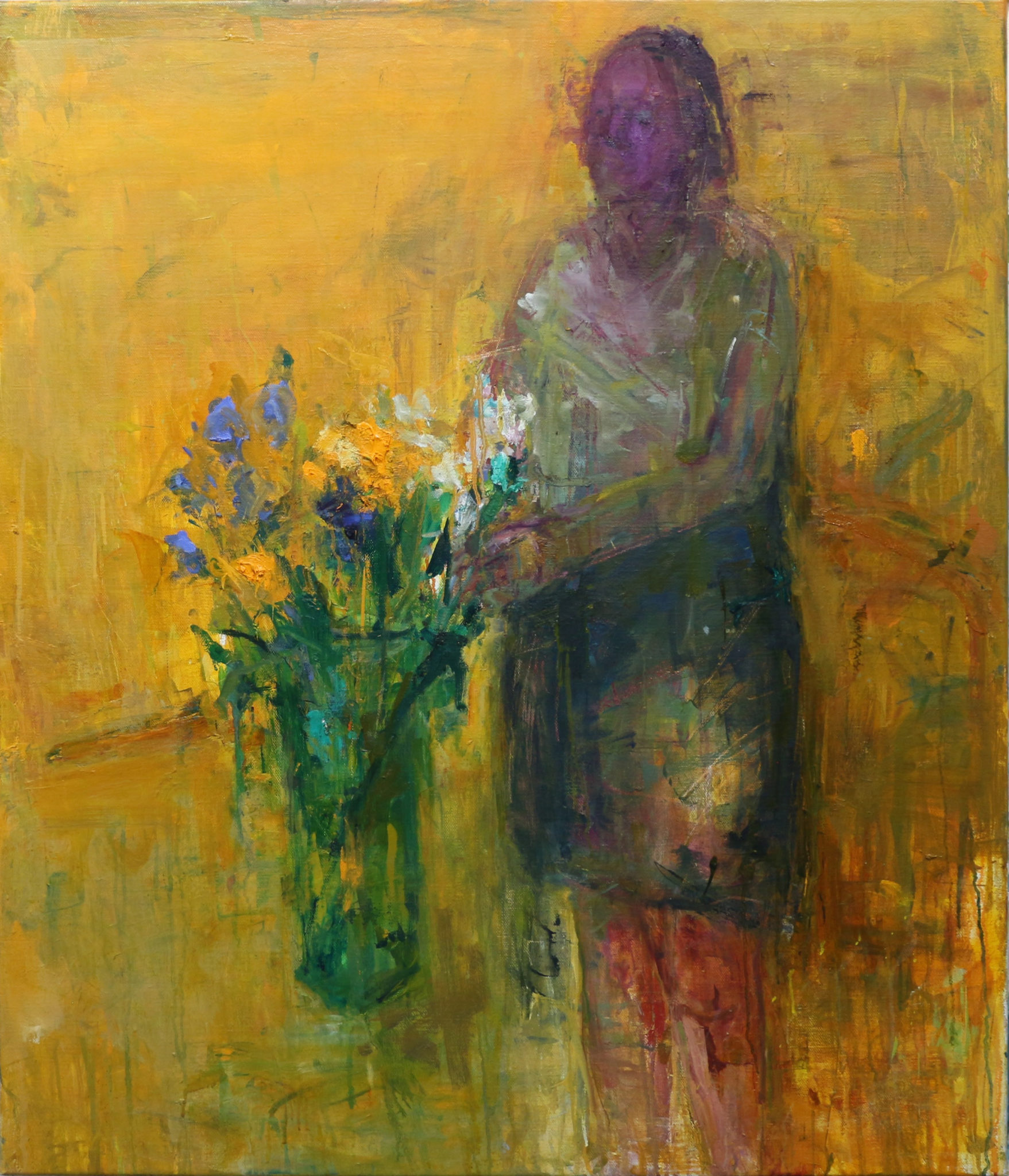 Union Gallery - Woman with Flowers