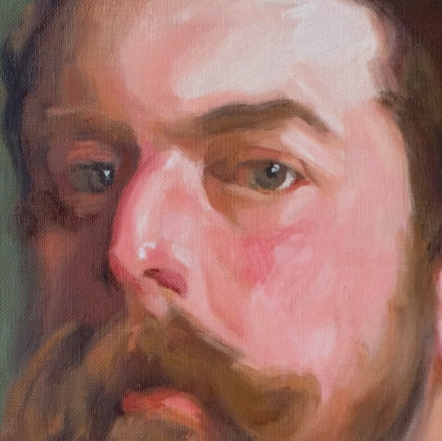 Copy After John Singer Sargent (Detail), 2016, 50x60cm, Oil on linen