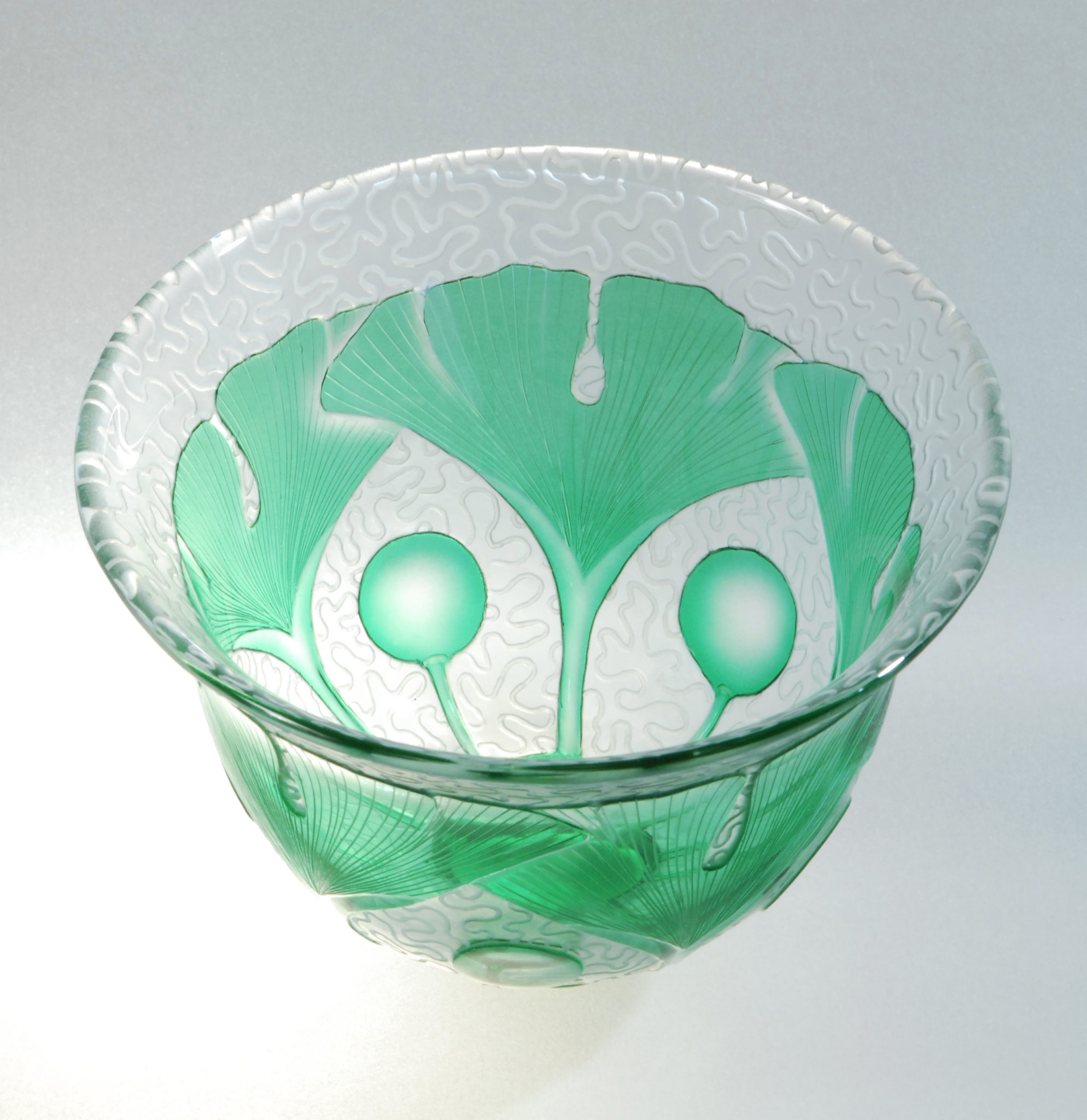 07 tea bowl_10cm H x 11cm D_ blown for me by Sonja Klingler with green overlay