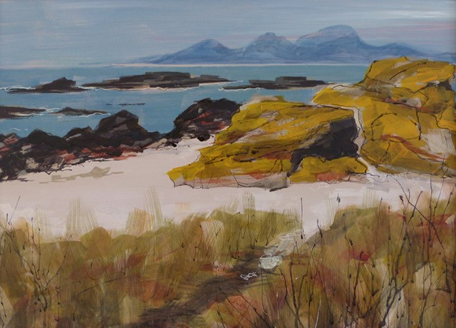 Mixed Media painting - The Colours of Kintyre
