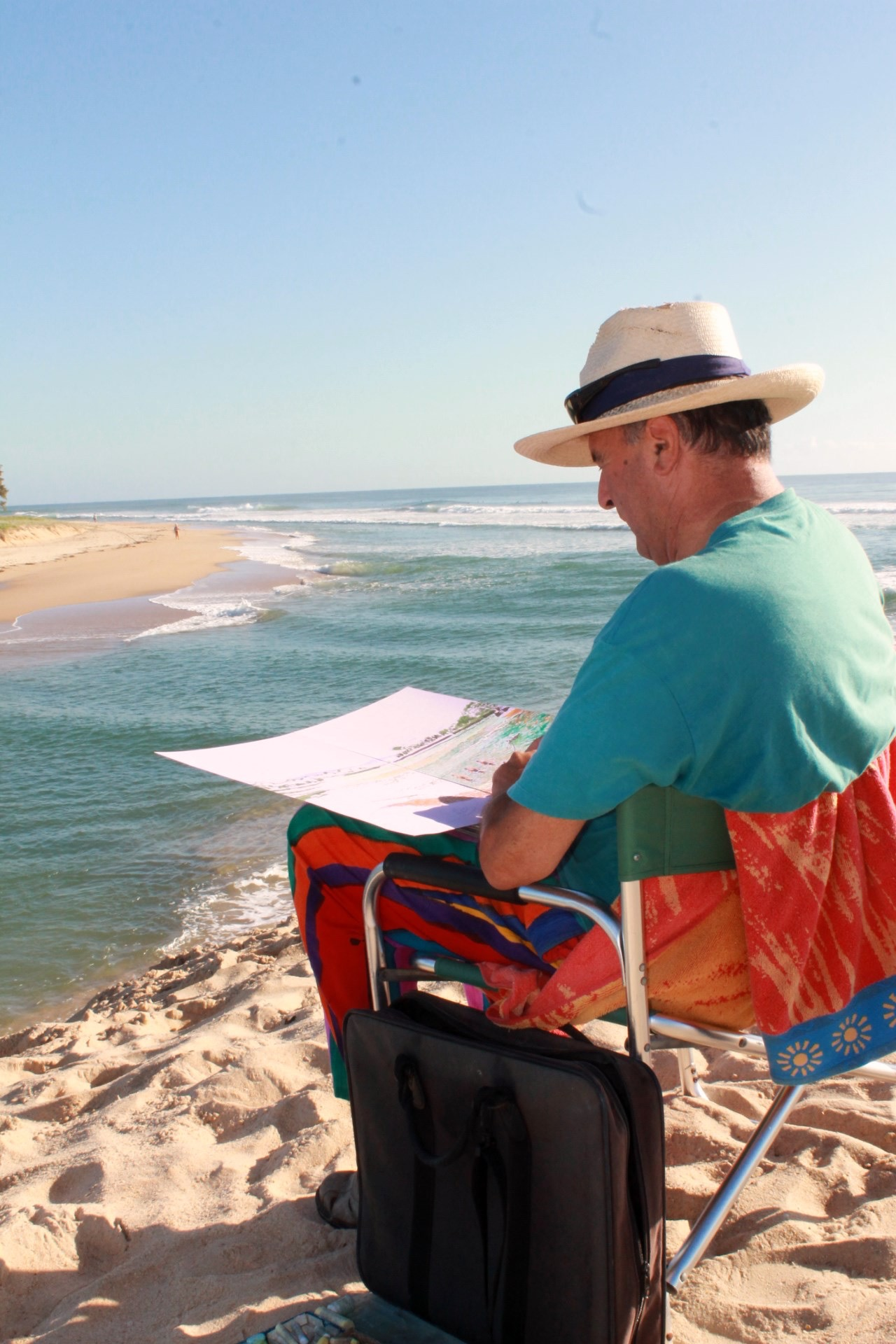 Drawing on the dune at Currimundi