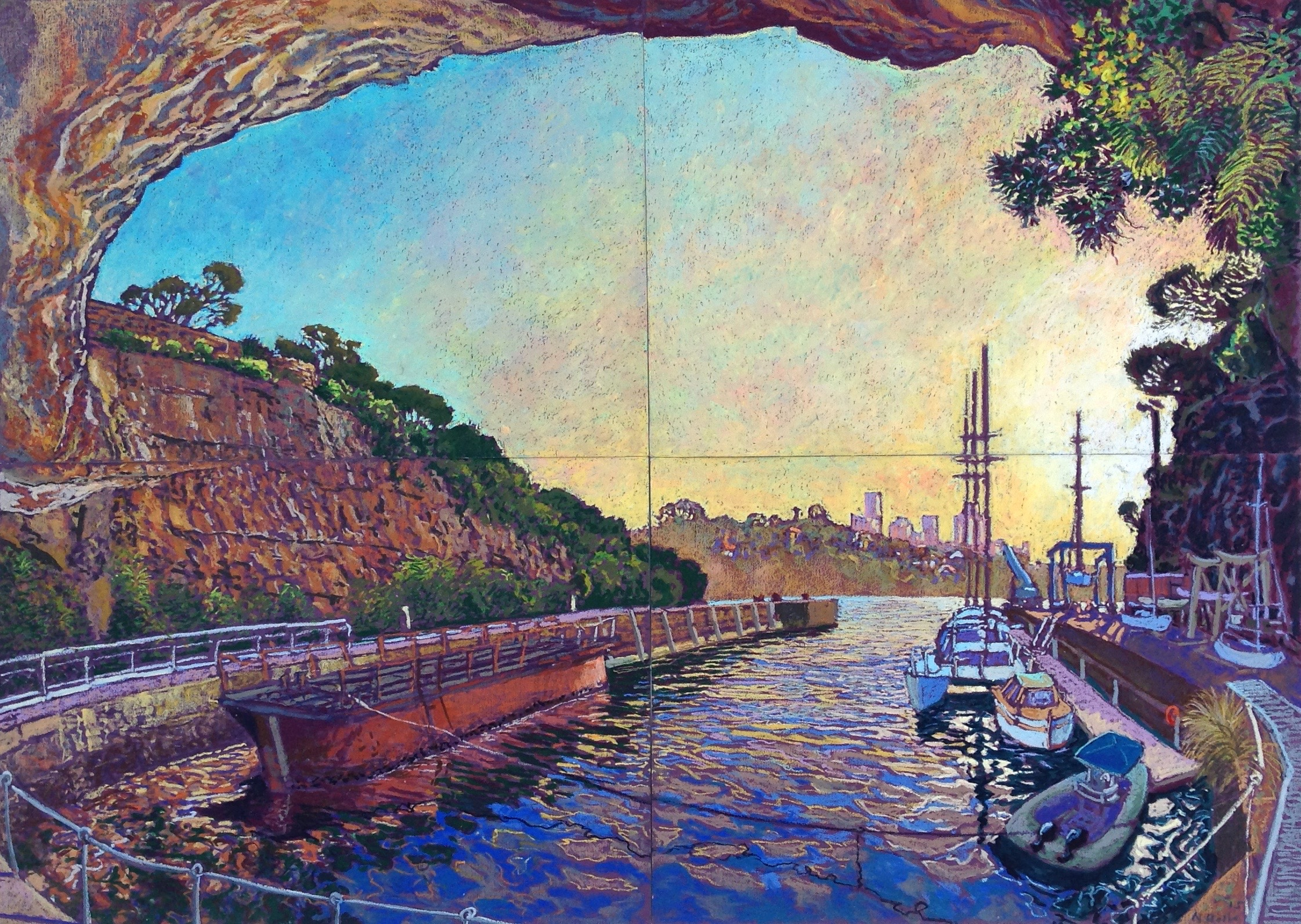 The cave at Woolwich Dock 84cm x 120cm